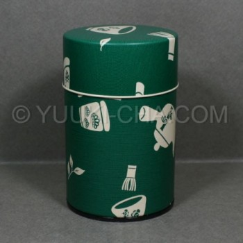 Green Chaki Tea Canister