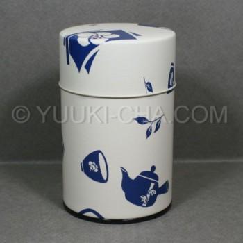 White Chaki Tea Canister