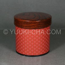 Red Komon Tea Canister