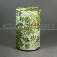 Green Momiji Washi Green Tea Canister