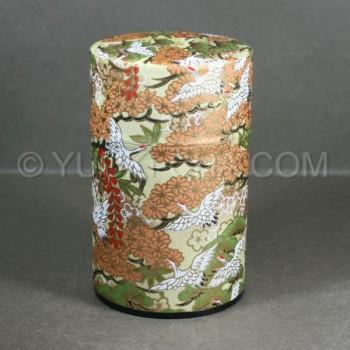 Yellow Tsuru Washi Green Tea Canister