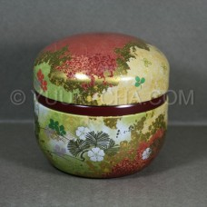 Red Hana Green Tea Canister