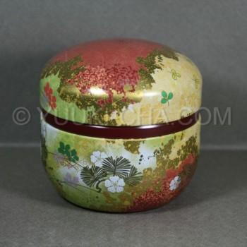 Red Hana Green Tea Canister
