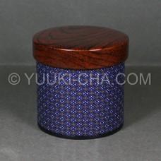Blue Komon Tea Canister