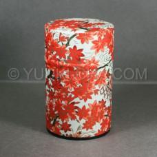 White Momiji Washi Green Tea Canister