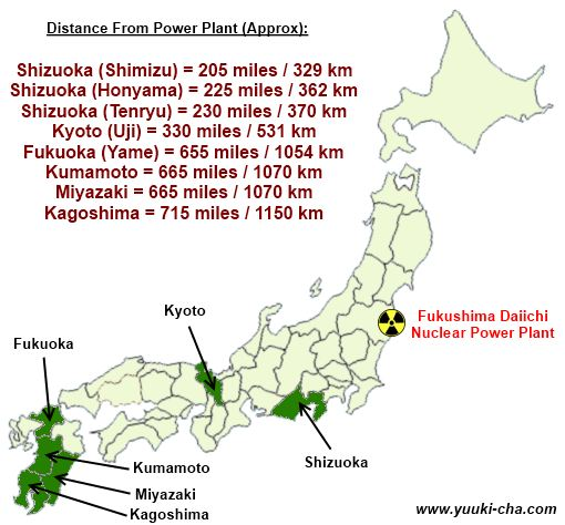 Japan Map Regions.Japanese Tea Region Map